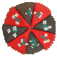 Lovely  bead work embroidered pen wipe