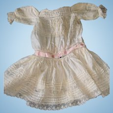 Silk and lace Antique doll dress