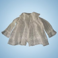 Beautiful embroidered lawn jacket for large doll