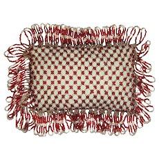 Beautiful soft bead work cushion