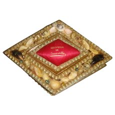 Shell encrusted sewing box from France
