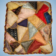 Crazy patchwork quilt for doll bed