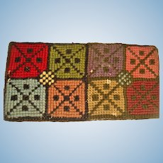 Delightful hand made woolen rug for dolls house