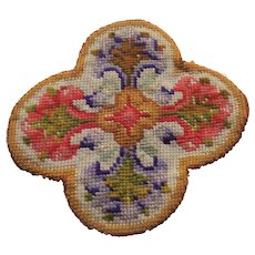 Small old needlework rug for the dolls house