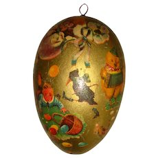German cardboard Easter egg c1900