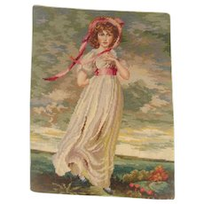 Well worked needlepoint of Gainsborough picture