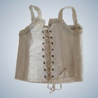 Good clean old doll corset with lacing