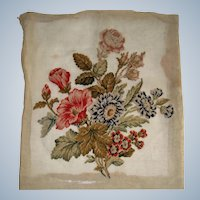 Pretty needlepoint picture of flowers