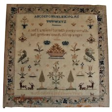 Early 19th century sampler by Ruth Colyer age eleven