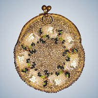 Small bead work coin  purse for doll