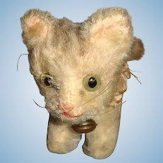 Tiny Steiff Tabby cat