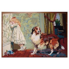 Large needlework by Charles Burton Barber A. Special Pleader