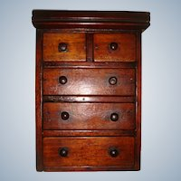 Early 19th century miniature chest of drawers for FF doll