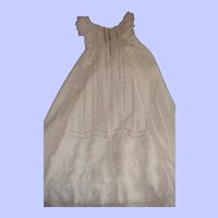 Beautiful full front antique christening dress