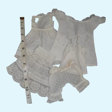 Collection of underwear for doll trunk for small doll