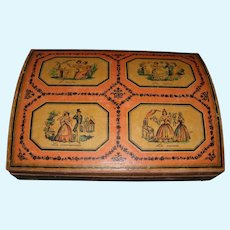 Beautiful old  domed French Chocolate box by F.Marquis Paris