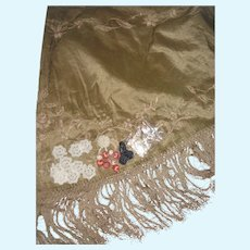 Silk shawl tiny buttons etc for doll  clothing