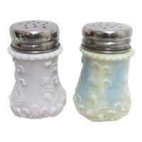 Antique Dithridge Glass Salt and Pepper Shakers Set American Circa 1890