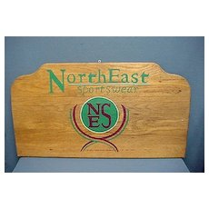 Wood  Advertising Sign North East Sportswear Large