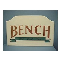 Wood Advertising Sign for Bench Casual Wear Large