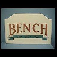 Wood Advertising Sign for Bench Casual Wear 50% OFF