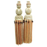 "Silk Tassel Tie Backs  matching pair 29"" long"