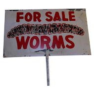 WORMS For Sale Double Sided Camp Ground Advertising Sign
