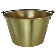 Brass Kettle, Pail, Bucket or Pot Ansonia Brass Co. 1866 Spun Brass