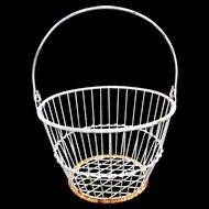 White Wire Antique Basket