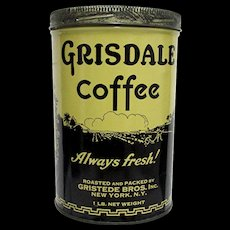 SOLD   35+ more Coffee tins available for purchase   Gridsale Coffee Advertising Tina