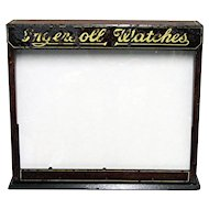 Ingersoll Advertising Pocket Watch Display Case