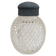 Glass Salt Shaker Raised Diamonds Pattern American Glass Shaker