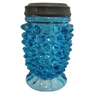 Glass Salt Shaker Hobnail Pattern
