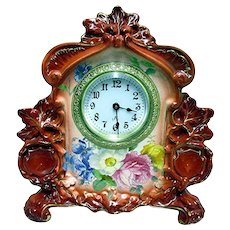 Royal Bonn Porcelain Clock by Ansonia Clock Co.
