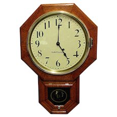 SOLD    See other CLOCKS for SALE    Antique Seth Thomas Regulator Wall Clock Original Restored Condition