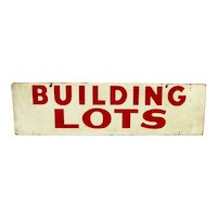 Building Lots Double Sided Advertising Sign