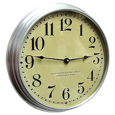 SOLD    See others on SALE    Round Standard Electric Industrial Wall Clock