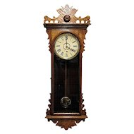 Antique E. N. Welch Meyerbeer Wall Clock Original Restored