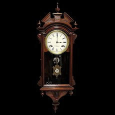 E. N. Welch Chiming Wall Clock