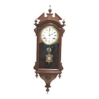 Antique American E. N. Welch Chiming Wall Clock
