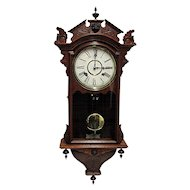 Waterbury Antique Wall Clock 100% Original and Fully Restored