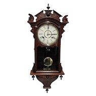 Waterbury Antique Wall Clock 100% Original and Fully Restored