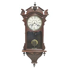 SOLD  May 2020  Antique Wall Clock Made By The Waterbury Clock Co. 100% Original and Fully Restored