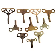 Ten Antique Clock Keys