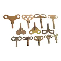 Clock Key Total of 12 Antique Keys