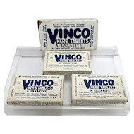 1920 Drug Store Advertising VINCO Herb Tablets   only  2 Small Packets