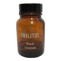 Drilitol Nasal Solution  Amber Glass Bottle Drugstore Or Pharmacy