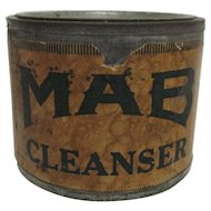 MAB Cleanser Advertising Tin with Original Contents