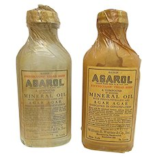 Pharmacy or Drugstore Bottle Advertising Trial Size Physicians Sample Agarol Unopened LAST ONE Shown on Left in Photo