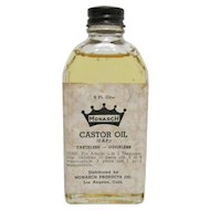 Monarch Castor Oil Drugstore Bottle with Original Oil 2 Fl. Oz.